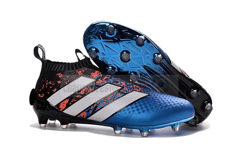 Adidas Crampon De Foot Ace 16+ Purecontrol FG Bleu Orange