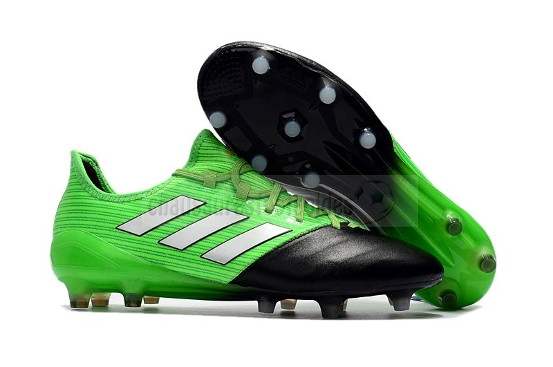Adidas Crampon De Foot Ace 17.1 Leather FG Vert Noir