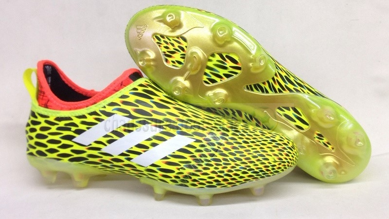 Adidas Crampon De Foot Glitch Skin 17 FG Orange Jaune