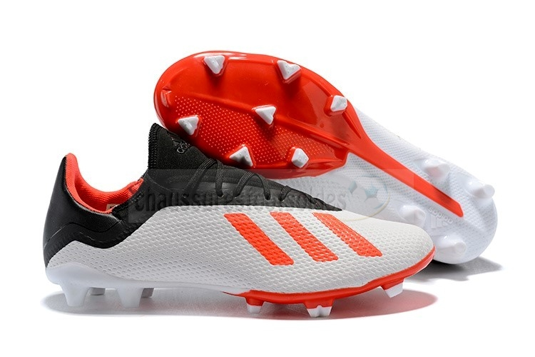 Adidas Crampon De Foot X 18.3 TPU FG Orange Blanc