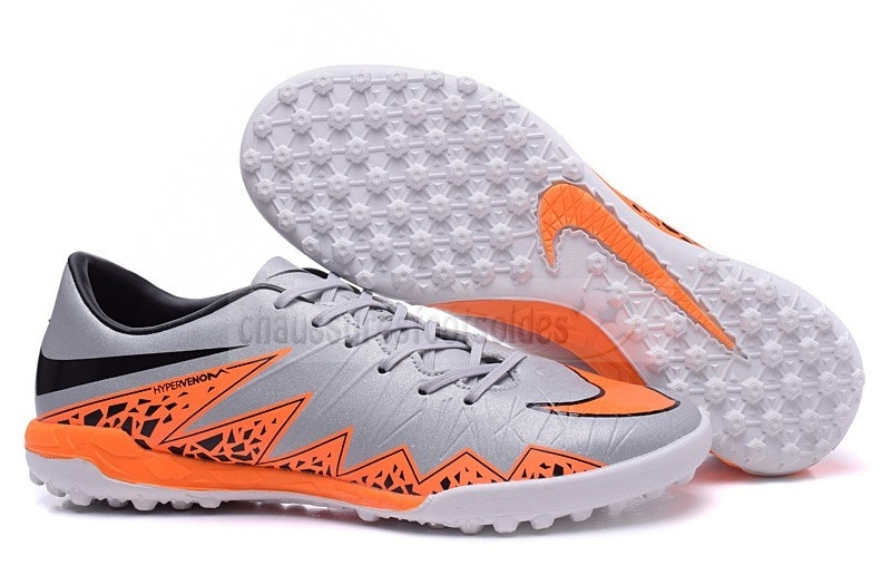 Nike Crampon De Foot Hypervenom II TF Gris Orange