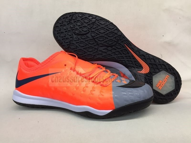 Nike Crampon De Foot HypervenomX Finale II IC Orange Gris