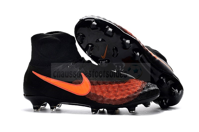 Nike Crampon De Foot Magista obra II FG Orange Noir