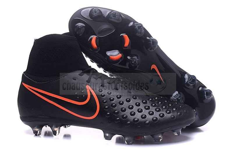 Nike Crampon De Foot Magista orden II FG Noir Orange