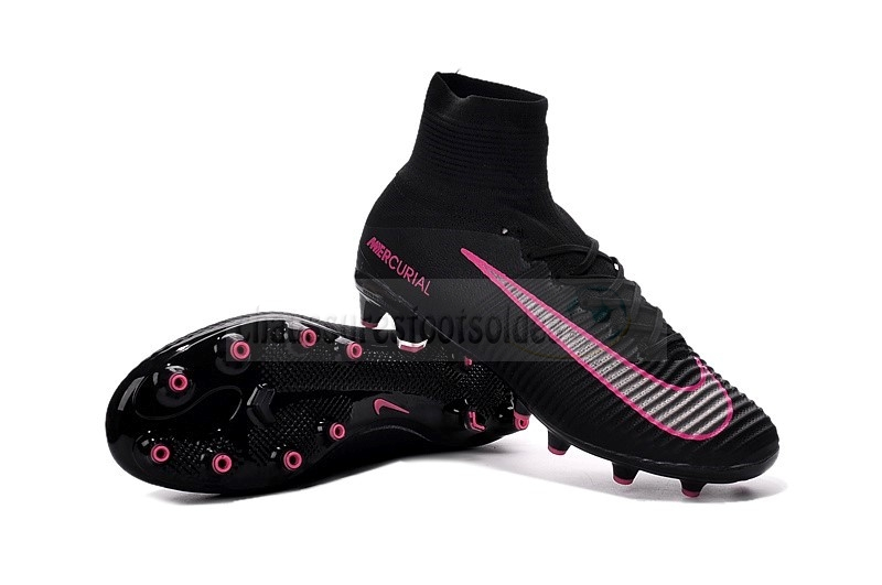 Nike Crampon De Foot Mercurial Superfly V AG Noir Rose