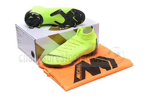 Nike Crampon De Foot Mercurial Superfly VI 360 Elite FG Vert Noir