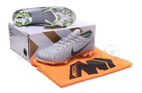 Nike Crampon De Foot Mercurial Superfly VI Elite FG Gris Noir