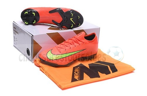 Nike Crampon De Foot Mercurial Superfly VI Elite FG Jaune Orange