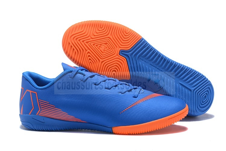 Nike Crampon De Foot Mercurial VaporX 12 Club IC Bleu Orange