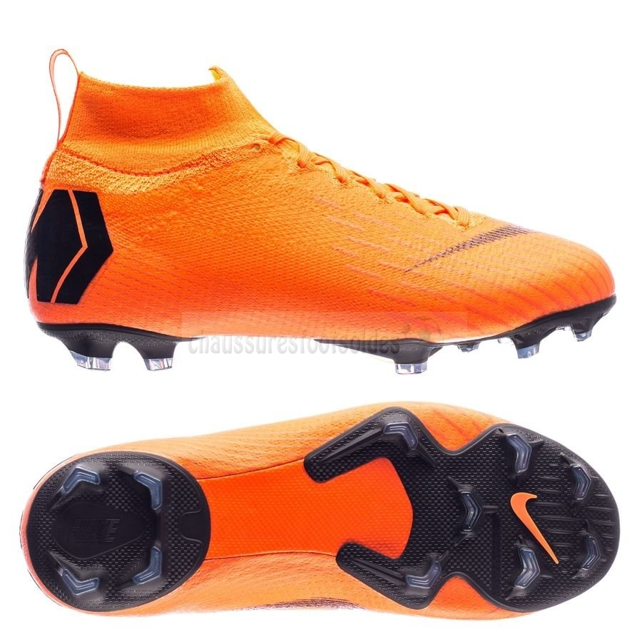 Nike Crampon De Foot Mercurial Superfly 6 Elite Enfants FG Orange