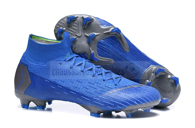 Nike Crampon De Foot Mercurial Superfly VI 360 Elite FG Bleu