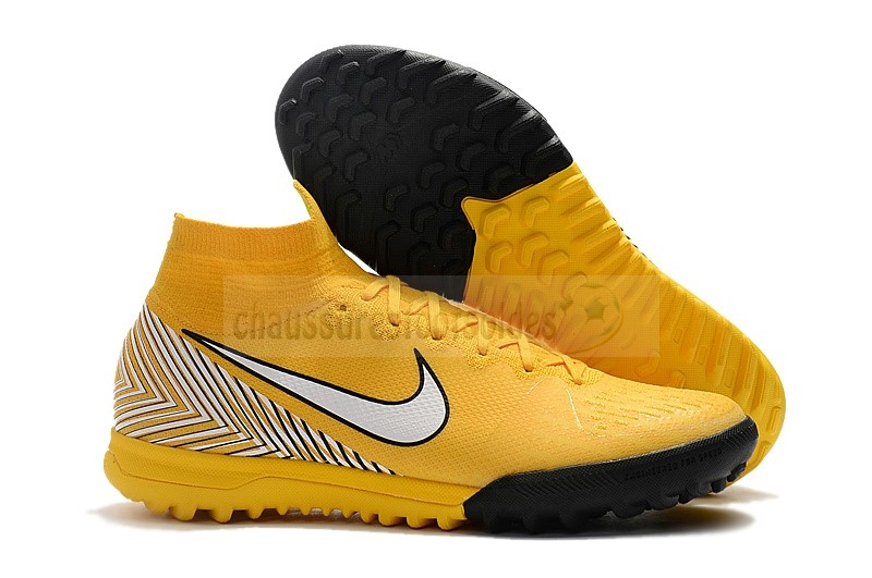 Nike Crampon De Foot Mercurial Superfly VI 360 Elite Neymar TF Jaune