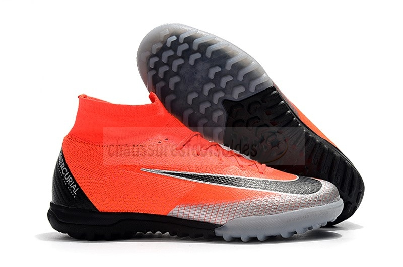 Nike Crampon De Foot Mercurial Superfly VI Elite CR7 TF Orange