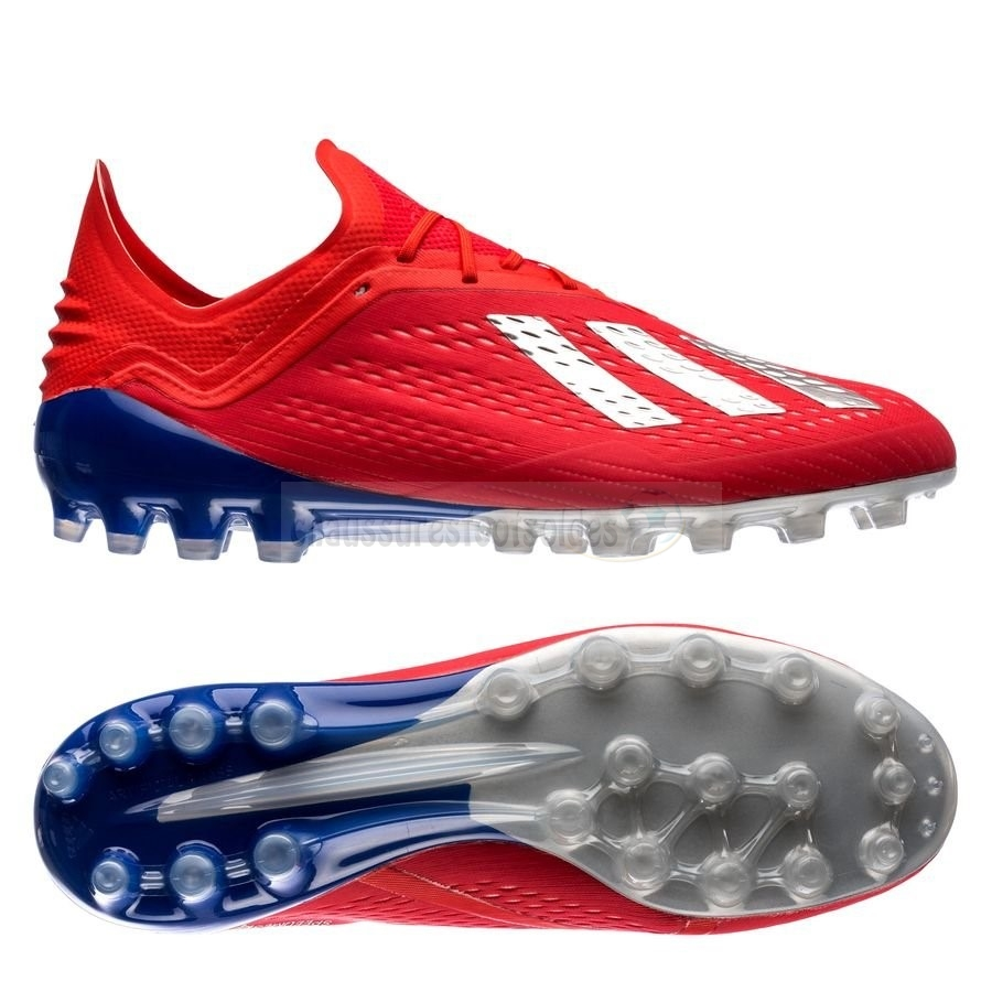 new arrival 363b4 66fdc Adidas Crampon De Foot X 18.1 AG Exhibit Bleu Rouge
