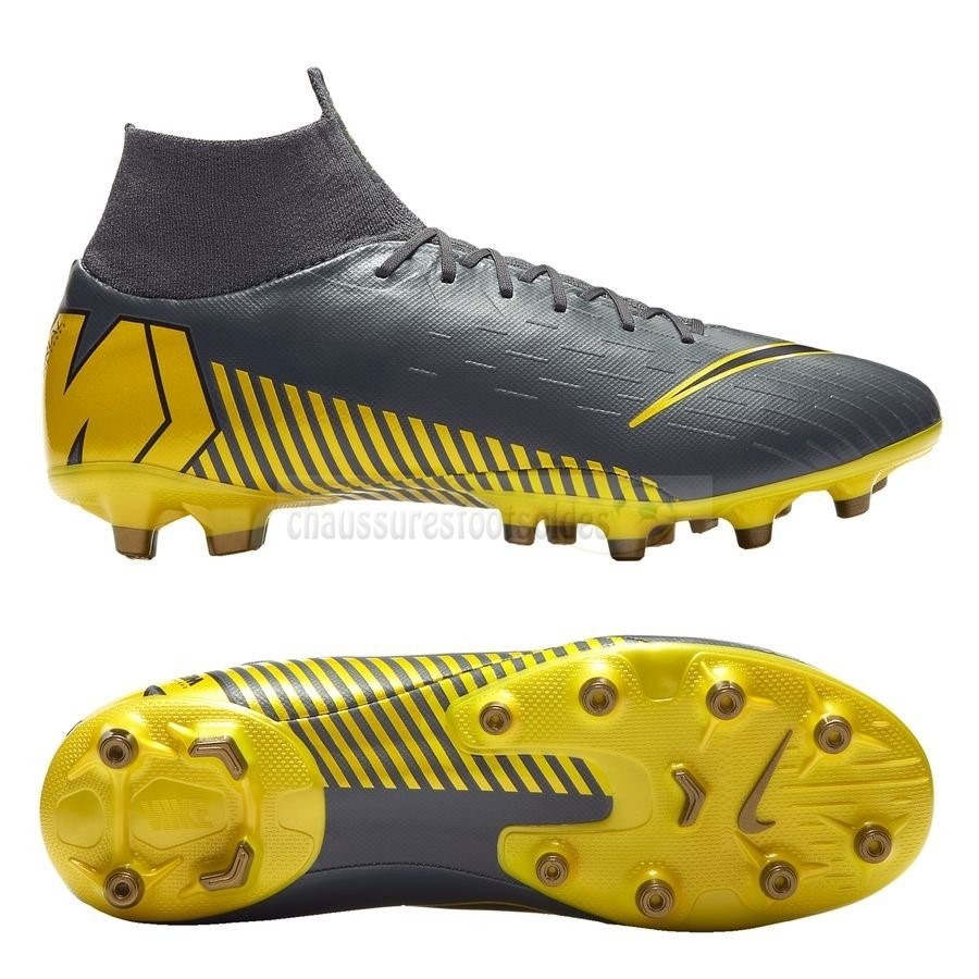 Nike Crampon De Foot Mercurial Superfly 6 Pro AG PRO Game Over Noir Jaune