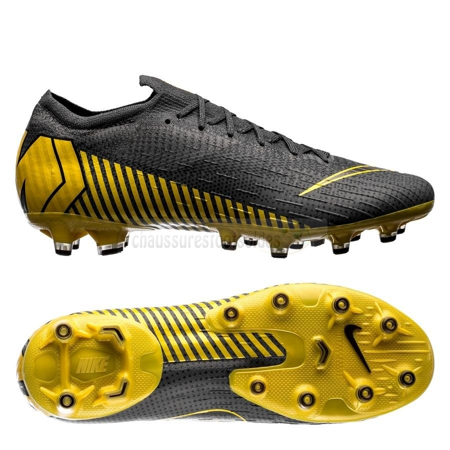 Nike Crampon De Foot Mercurial Vapor XII Elite AG PRO Game Over Noir Jaune