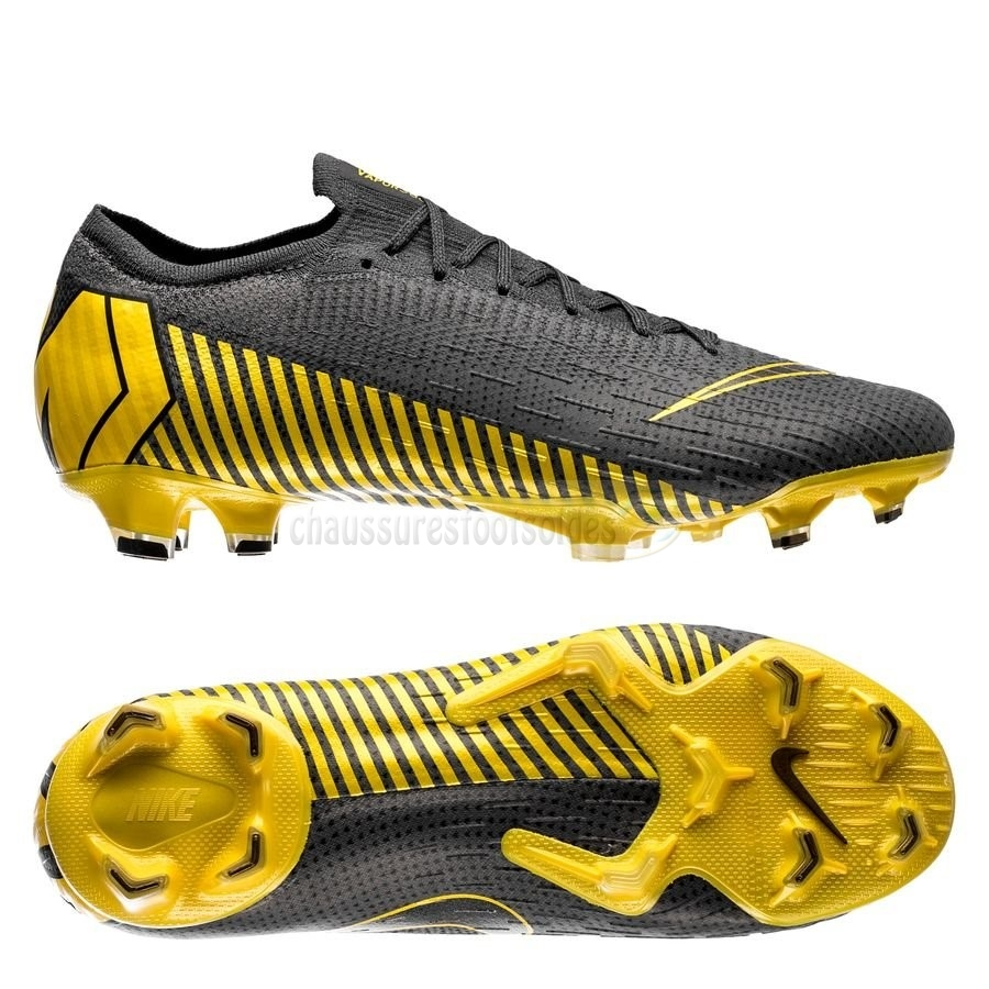 Nike Crampon De Foot Mercurial Vapor XII Elite FG Game Over Noir Jaune
