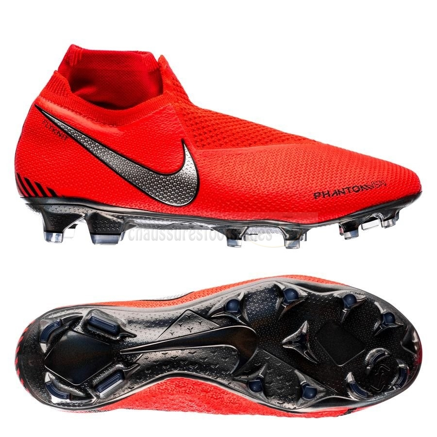 Nike Crampon De Foot Phantom Vision Elite DF FG Game Over Rouge