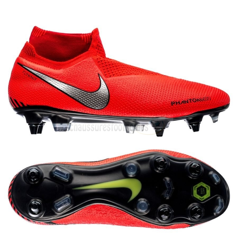 Nike Crampon De Foot Phantom Vision Elite DF SG PRO Anti Clog Game Over Rouge