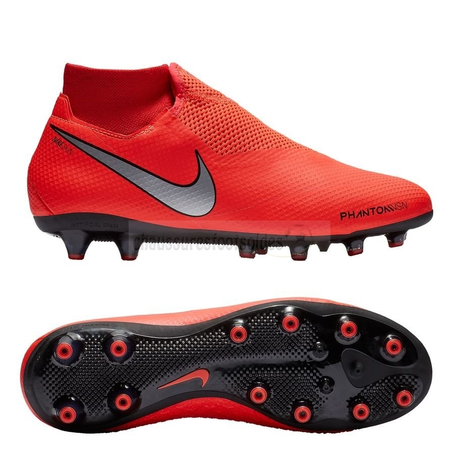 Nike Crampon De Foot Phantom Vision Pro DF AG PRO Game Ove Rouge