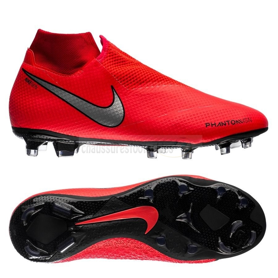 Nike Crampon De Foot Phantom Vision Pro DF FG Game Over Rouge