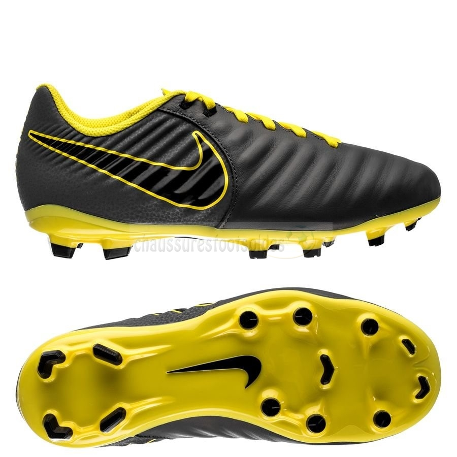 Nike Crampon De Foot Tiempo Legend VII Academy Enfants FG Game Over Noir Jaune