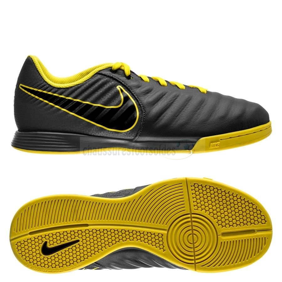 Nike Crampon De Foot Tiempo Legend VII Academy Enfants IC Game Over Noir Jaune