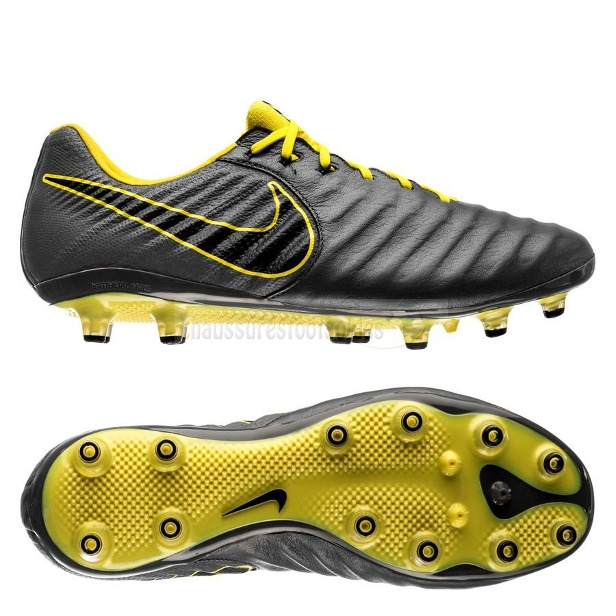 Nike Crampon De Foot Tiempo Legend VII Elite AG PRO Game Over Gris Jaune