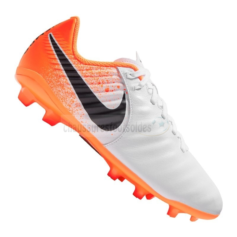 Nike Crampon De Foot Jr Tiempo Legend VII Academy Enfants FG Orange