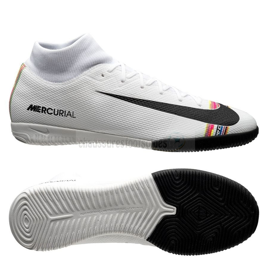 Nike Crampon De Foot Mercurial Superfly 6 Academy IC LVL UP Blanc