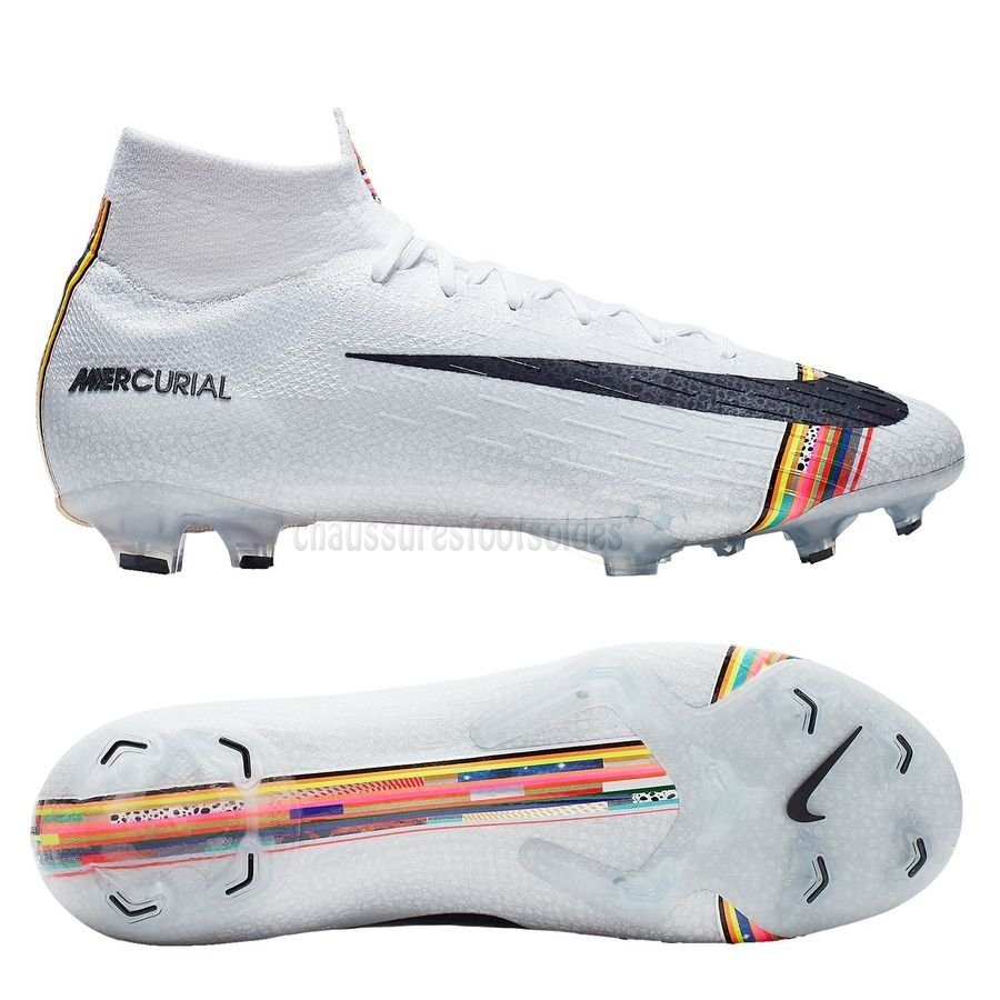 Nike Crampon De Foot Mercurial Superfly 6 Elite FG LVL UP Blanc