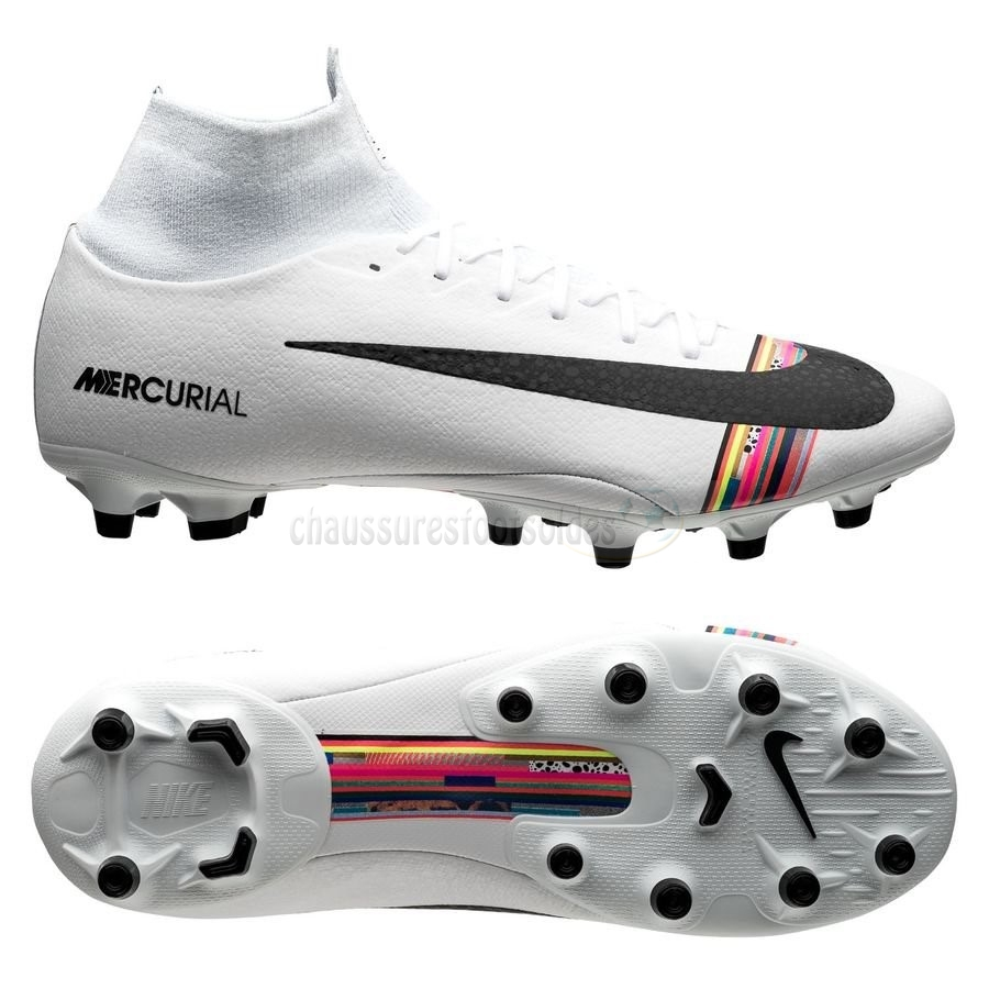 Nike Crampon De Foot Mercurial Superfly 6 Pro AG PRO LVL UP Blanc