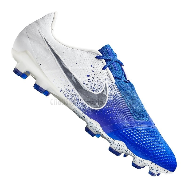 Nike Crampon De Foot Phantom Venom Elite FG Weiss Bleu
