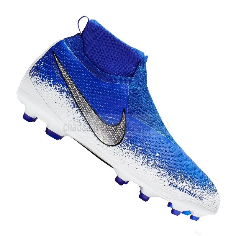 Nike Crampon De Foot Phantom Vision Elite Enfants MG Bleu