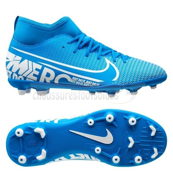 Nike Crampon De Foot Mercurial Superfly 7 Club MG Bleu