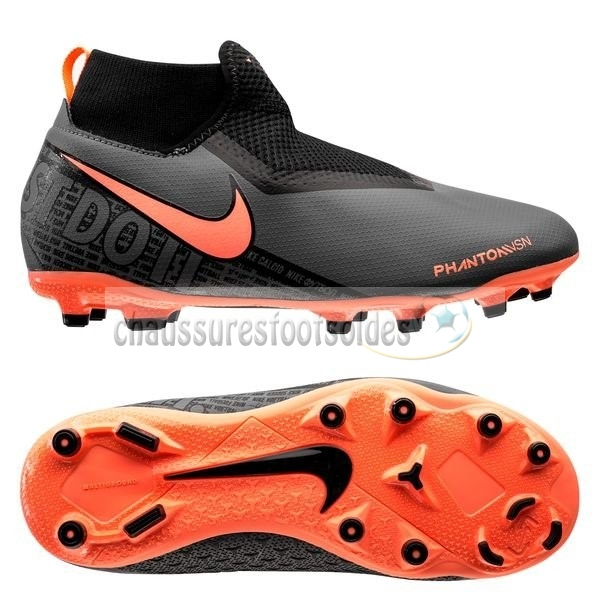 Nike Crampon De Foot Phantom Vision Enfants Academy DF MG Fire Noir