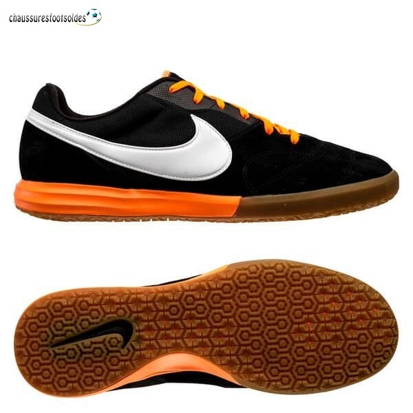 Nike Crampon De Foot Premier II Sala IC Noir Blanc Orange