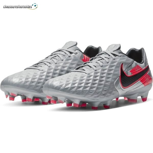 Nike Crampon De Foot Tiempo Legend 8 Pro FG Neighbourhood Métallique Gris Noir