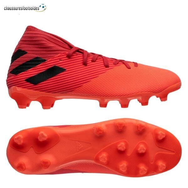 Adidas Crampon De Foot Nemeziz 19.3 MG Inflight Noir Rouge
