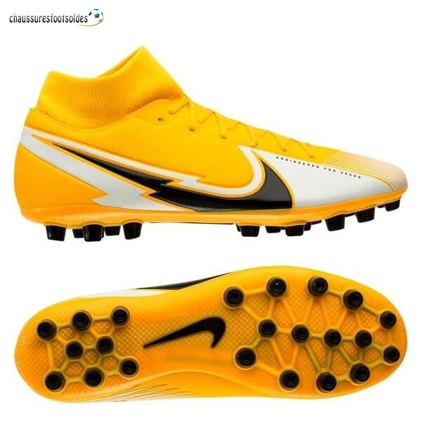Nike Crampon De Foot Mercurial Superfly 7 Academy AG Daybreak Orange Noir Blanc