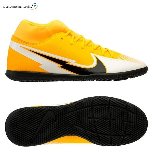 Nike Crampon De Foot Mercurial Superfly 7 Club IC Daybreak Orange Noir Blanc