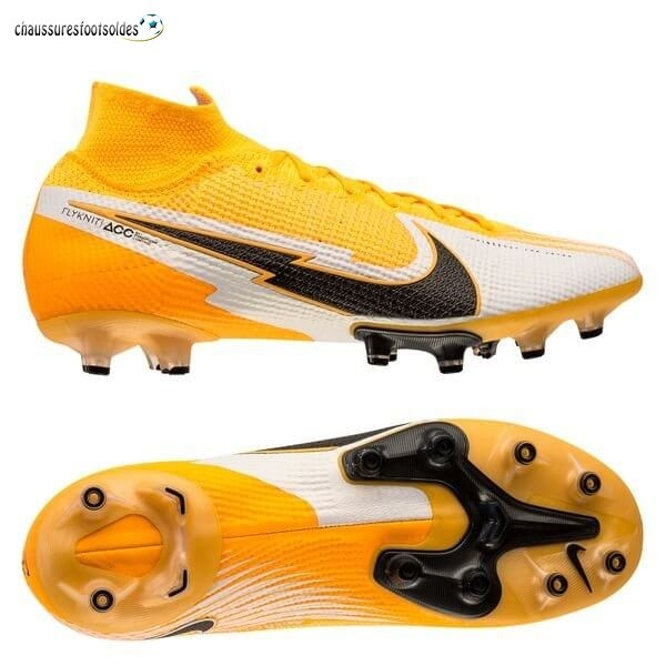 Nike Crampon De Foot Mercurial Superfly 7 Elite AG Daybreak Orange Noir Blanc