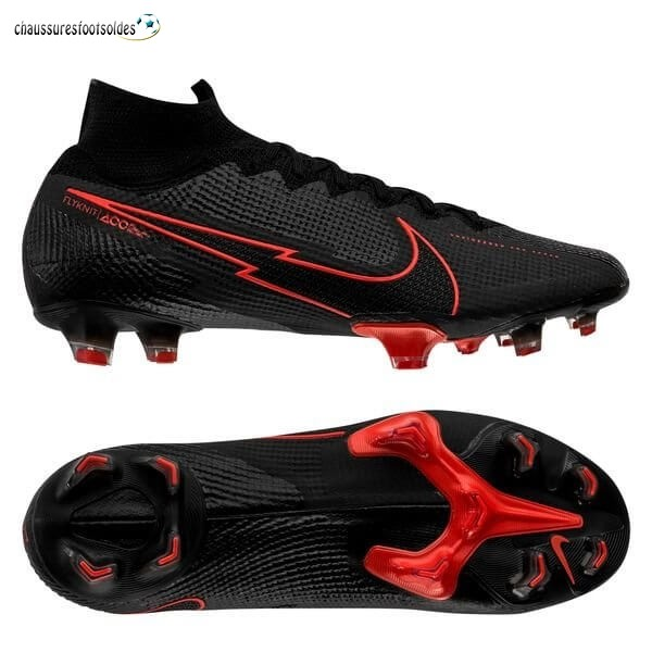 Nike Crampon De Foot Mercurial Superfly 7 Elite FG Noir Rouge