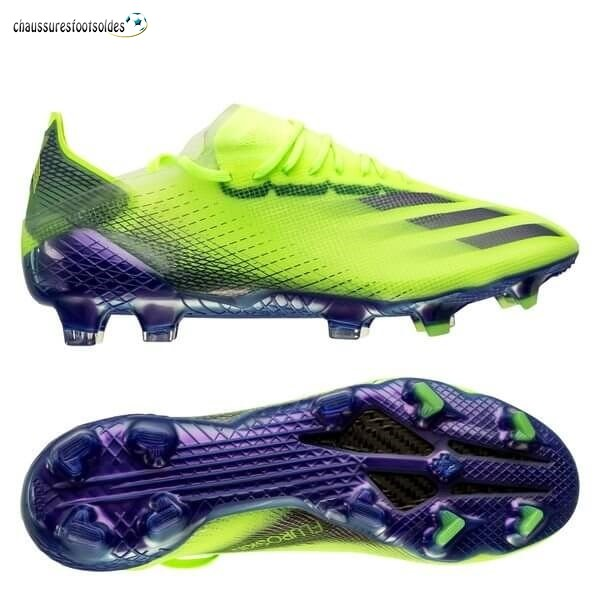 Adidas Crampon De Foot X Ghosted.1 Femme FG/AG Precision To Blur Vert Pourpre