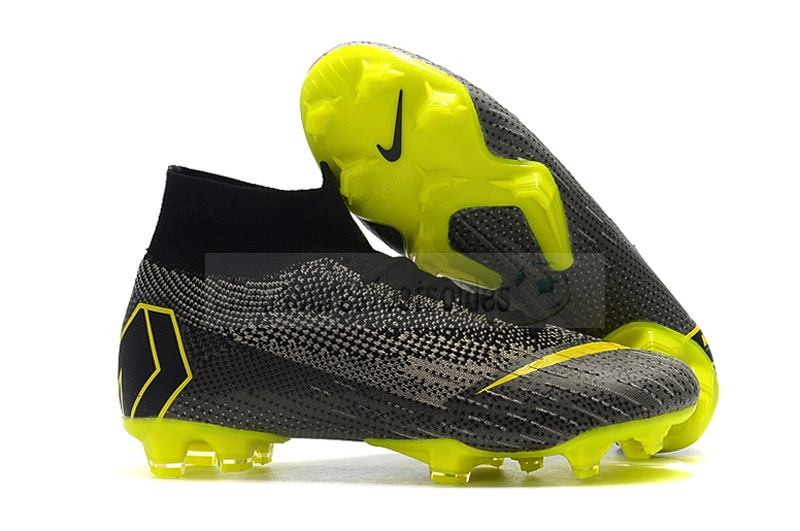 Nike Crampon De Foot Mercurial Superfly VI 360 Elite FG Noir
