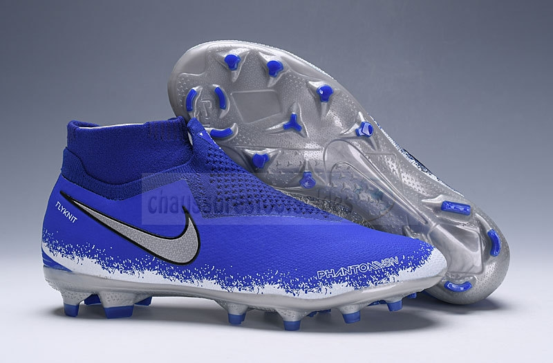 Nike Crampon De Foot Phantom VSN Elite DF FG Bleu