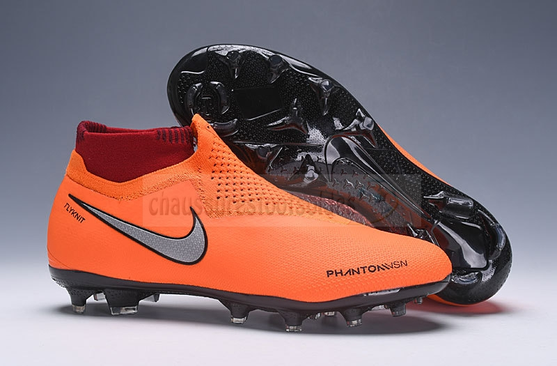 Nike Crampon De Foot Phantom VSN Elite DF FG Orange