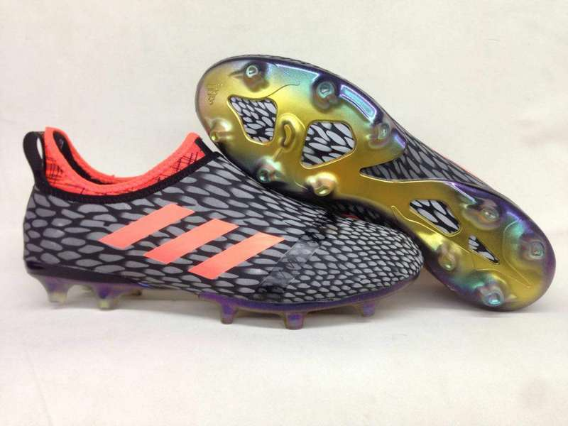Adidas Crampon De Foot Glitch Skin 17 FG Orange Gris
