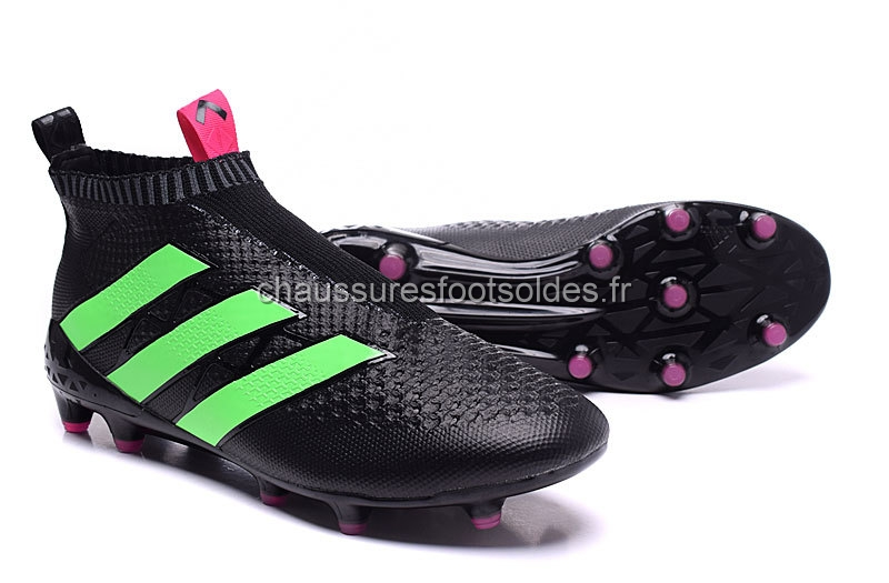sports shoes aded2 0bff1 ... Adidas Crampon De Foot Ace 16+ AG Noir Vert ...