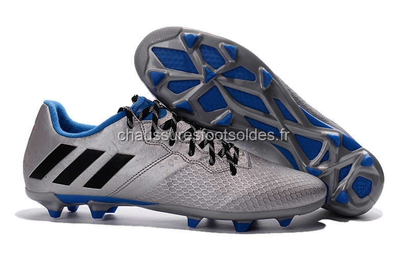sports shoes 71600 935dc Adidas Crampon De Foot Messi 16.3 FG Argent Noir CFS778 .